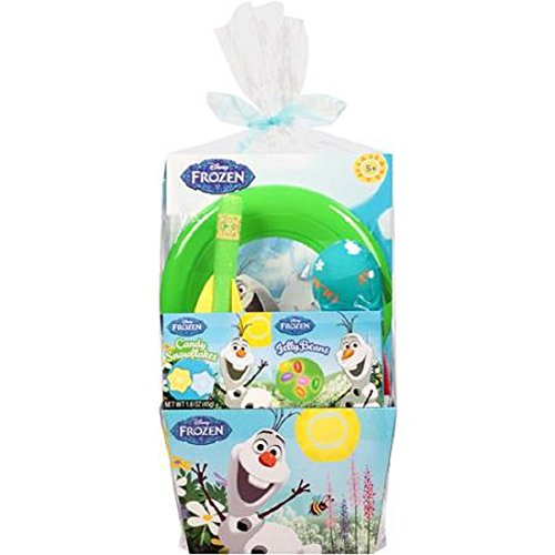 [Disney Frozen Olaf Birthday Party Gift Set Bundle Basket Disney Eggs Candy Pez Puzzle] (Homemade Disney Character Costumes Adults)