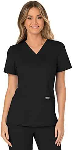 Cherokee Workwear Revolution Women's Mock Wrap Scrub Top