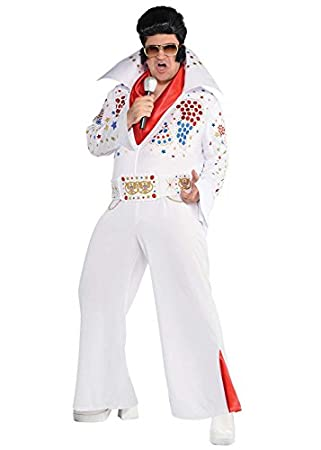 MagicBox Mens Rock and Roll King of Vegas Costume XL (44-46