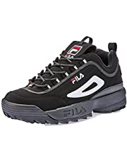 Fila Disruptor II Men's Casual Shoes, WHT/Peacoat/Vintage RED, 9 US