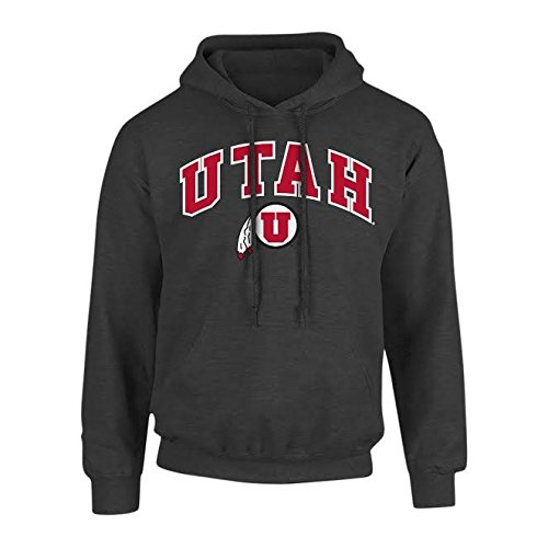 (Elite Fan Shop NCAA Utah Utes Men's Arch Hoodie Sweatshirt, Dark Heather, XX Large)