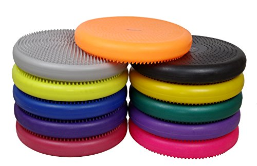 "Isokinetics Inc. Balance Disc 14"" Round Pre Inflated Stability Cushion for Therapy, Exercise, Core Training, Seats Many Colors"
