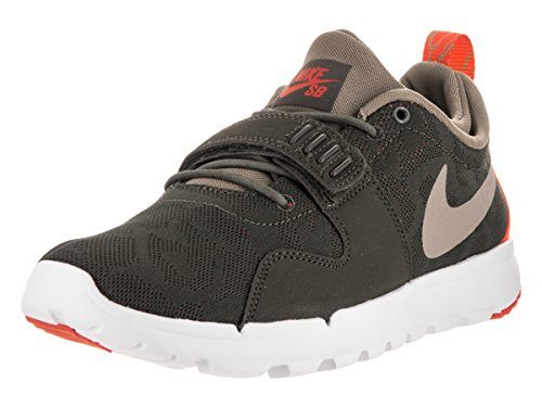 Nike Trainerendor Mens Skateboarding-shoes Cargo Khaki/neutral Olive-bright Crimson (Bright Olive)