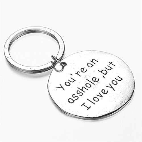 UNKE Funny Dog Tag Keychain Charm Keyring Valentine's Day Gift for Couples Lovers Photo #2