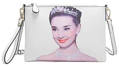 Big Womens Shop Audrey Off Handbag Vegan Shoulder White Wristlet Bag Large Leather Extra Hepburn 11 Evening Clutch rSqrCwE