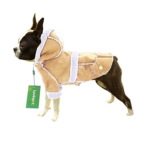 Dog Jacket Dog Hoodie Dog Winter Coat Winter Vest for Small Medium Breeds Snowsuit LovinPet (Doggy Snowsuit)