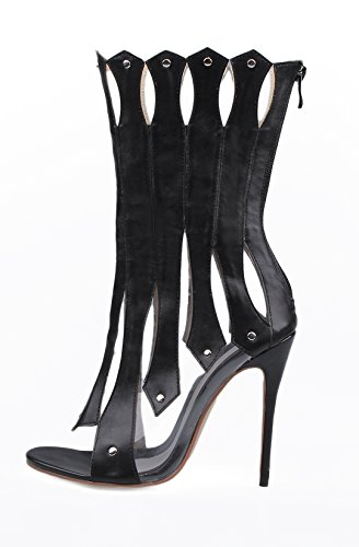 tacón TDA mujer con negro Zapatos xZpgqX6vgw