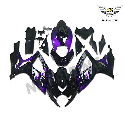 NT FAIRING Purple Black Fairing Fit for Suzuki K6 2006-2007 GSXR 600 750 New Injection Mold ABS Plastics Bodywork Body Kit Bodyframe Body Work 06 07
