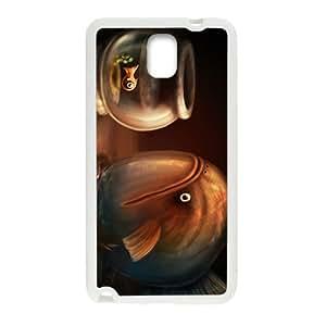 Creative Fish Pattern Custom Protective Hard Phone Cae For Samsung Galaxy Note3