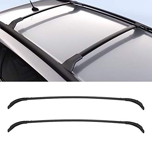 SarahQ for 2009-2014 Nissan Murano Black Aluminum and Plastic Cross Bars Luggage Top Roof Rack Cargo Carrier Rails