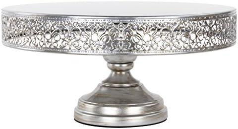 14/'/' Cake Stand Round Metal Golden Plate Mirror Wedding Party Display