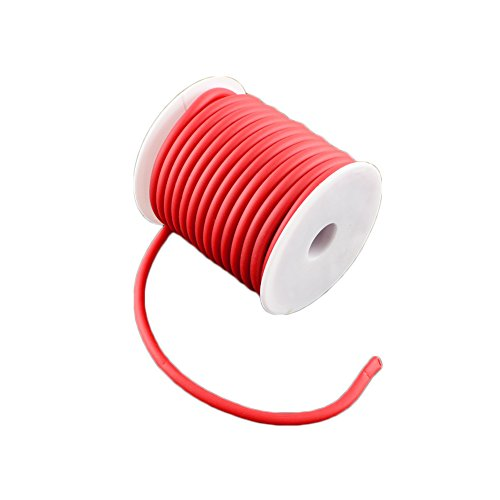 arricraft 1 Roll 10m/roll 5mm Silicone Cord Rubber Cord Bracelet Necklace Making 3mm Hole, Wrapped Around White Plastic Spool