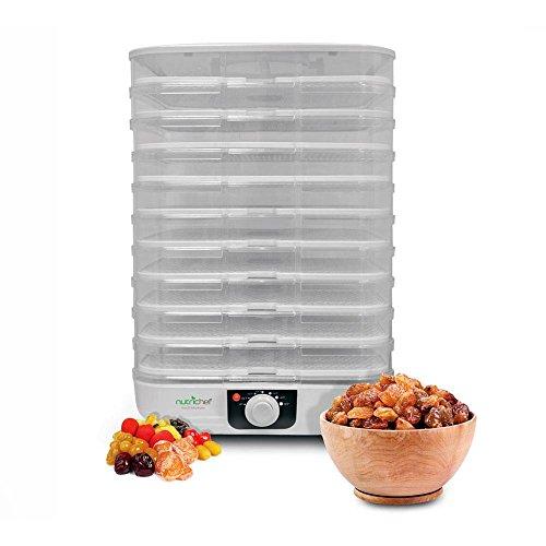 NutriChef AZPKFD17 Food Dehydrator, 13.4 x 13.4 x 19.3 inches, White by NutriChef