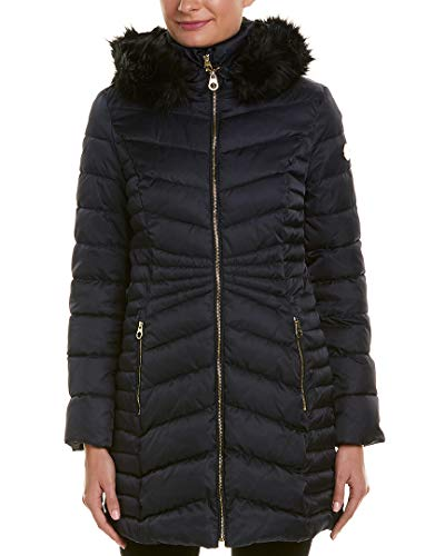 Laundry Quilted Coat (Laundry by Shelli Segal Womens Quilted Coat, S, Blue)