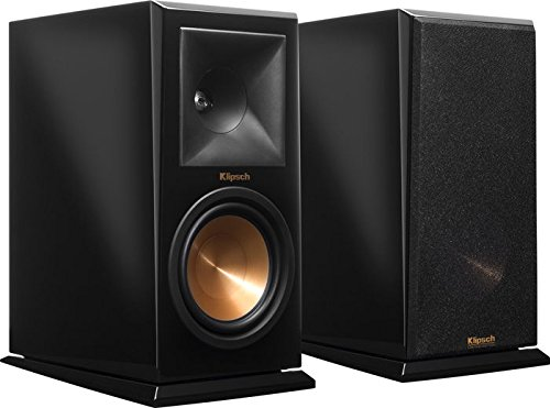 Klipsch RP-160M Piano Black Bookshelf Speaker - Piano Quart