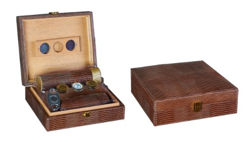 Prestige Import Group 25 Ct. Brown Leather Gift Set w/ Matching ()
