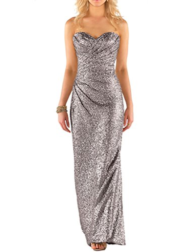 JYDress - Robe - Taille empire - Femme -  argent - 46