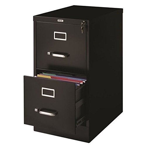 Pemberly Row 2 Drawer Letter File Cabinet in Black by Pemberly Row