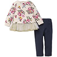 Little Me Baby Girls' 2 Piece Long Sleeve Knit Fashion Legging Set