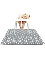 Barnstol matta, 132 cm vattentät baby stänkmatta för barnstol golvskydd halkfri multifunktionell fyrkantig lekmatta för bebisar, småbarn, barn konsthantverk