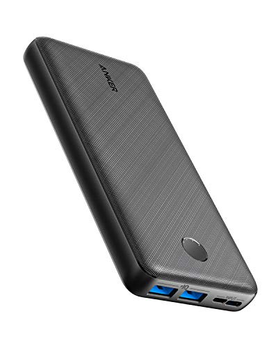 Anker PowerCore Essential 20000 Portable Charger, 20000mAh Power Bank with PowerIQ Technology and USB-C Input, High-Capacity External Battery Compatible with iPhone, Samsung, iPad, and More.