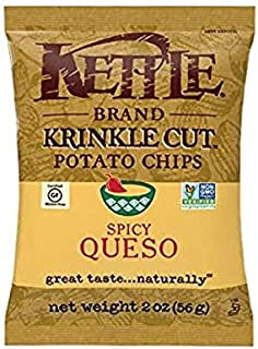 product image for Kettle Brand Potato Chips by SnackAtac All Flavors 1.5 Oz and 2 Oz (Spicy Queso, 48 Ct 2.0 Oz)