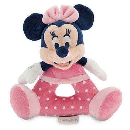 [Disney Minnie Mouse Plush Rattle for Baby] (Minnie Mouse Nose)