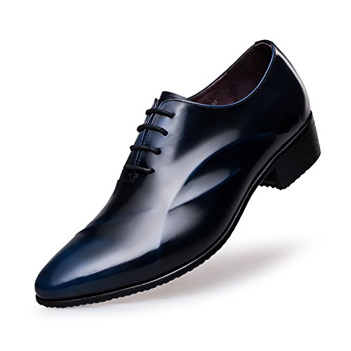 ZRO Men's Lace Up Formal Modern Oxford Dress Shoes Blue US 7 by ZRO