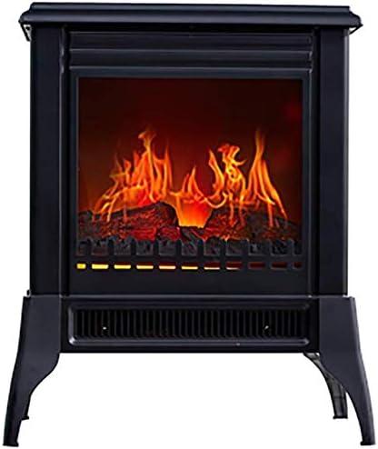 Zgyqgoo Radiation Free Energy Saving 3d Flame Effect Electric Stove 1400w Chimney Heater Large Window Free Standing Fireplace Amazon De Küche Haushalt