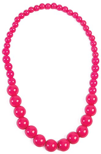 Hot Pink Big Pearls Necklace Costume Accessory 2017