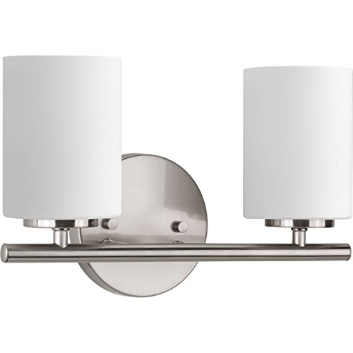 Progress Lighting P2158-09 Replay Collection Two-Light Bath & Vanity, Brushed -