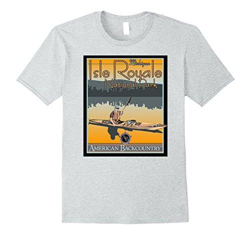 Men's Isle Royale National Park Travel Explore Journey T-Shirt Medium Heather - National Is Harbor Where