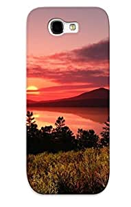 (cYiPoSU3060FsPSp)durable Protection Case Cover With Design For Galaxy Note 2(sunset At The Mountain Lake )