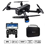 Contixo F22 RC Foldable Quadcopter Drone | Selfie, Gesture, Gimbal 1080P WiFi Camera, GPS, Altitude Hold, Auto Hover, Follow Me, Waypoint Includes Drone Storage Case