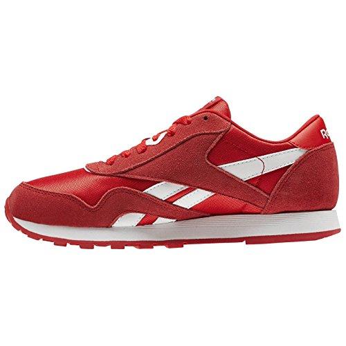primal Cl Sneaker Mixte Enfant Reebok white Basse Nylon Red 000 Rouge U00dq