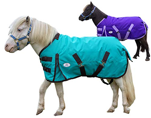 (Derby Originals Extreme Elements Series Mini Horse and Pony 1200D Ripstop Waterproof Nylon Winter Turnout Blanket with 300g Polyfil Insulation - Two Year Limited Manufacturer's Warranty)