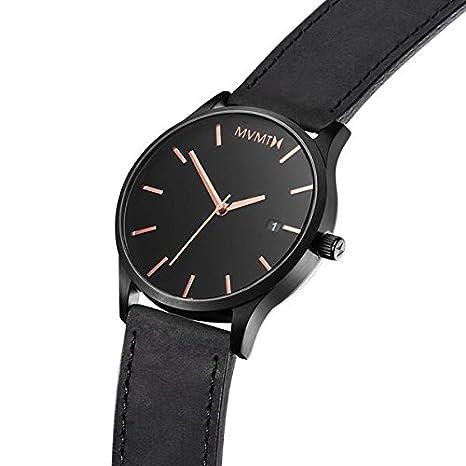 MVMT Reloj Analógico para Hombre de Cuarzo con Correa en Cuero D-MM01-BBRGL: Amazon.es: Relojes