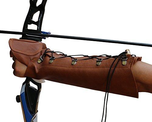 Nachvorn Handmade Leather Arm Guard Bow Hand Shooting Glove Brown