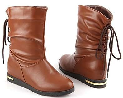 Amazon.com | XCC women flat ankle boots half short boot
