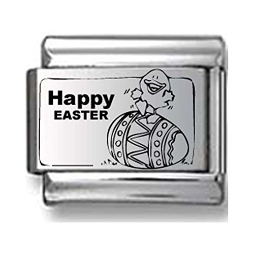 Happy Easter Egg Laser Italian Charm