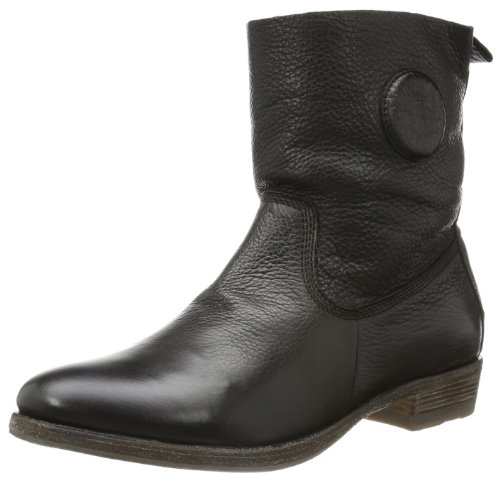 Nero Schwarz Donna High High Blackstone Stivali Blackstone Bootie Bootie Black Leather 8xzPP