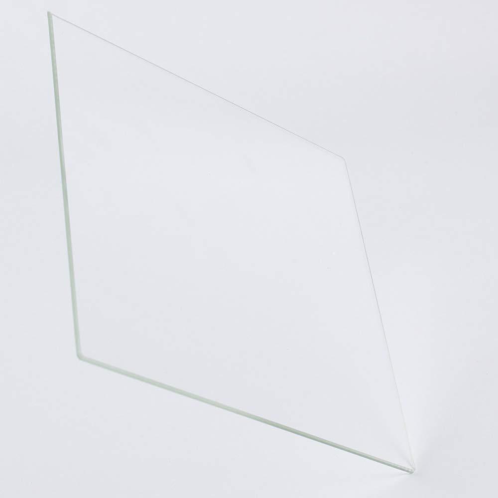 Plaque en verre borosilicate 400 mm x 400 mm x 3 mm pour imprimantes 3D parfaitement plat avec bords polis.
