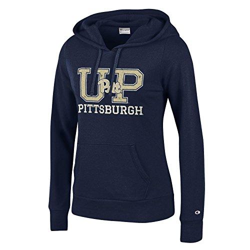 NCAA Pittsburgh Panthers Women's Champion University Fleece Hoodie, X-Small, Navy