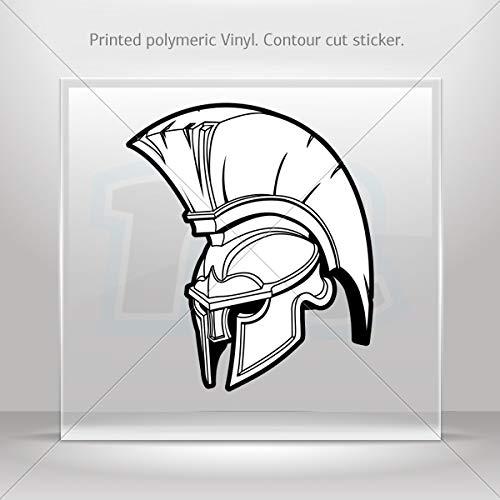 Warriors Various sizes Decal Stickers Spartan Roman Helmet Decoration Motorbike Racing Garage (7 X 5.99 Inches)
