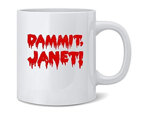 Brad Rocky Horror Show Costumes - Dammit Janet! Funny Halloween Coffee Mug