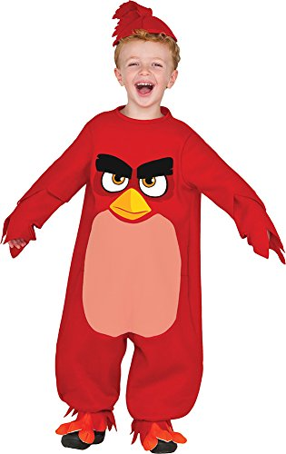 Toddler Bird Costumes (Rubie's Baby Angry Birds Movie Romper Costume, Red, Toddler 2T)