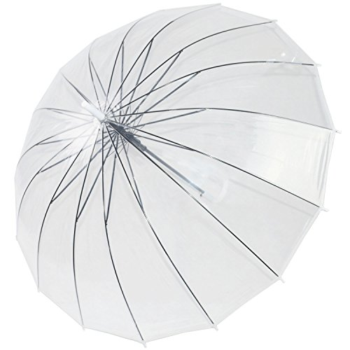 Kung Fu Smith Large Bubble Dome Auto Open Rain Clear Stick Umbrella by Kung Fu Smith