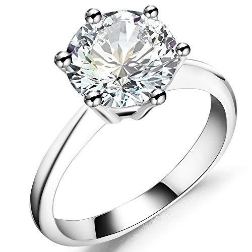 Jude Jewelers Ring (3 Carat, 7) (Jewelry Solitaire Rings)