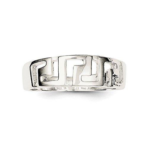 (925 Sterling Silver Greek Key Ring)