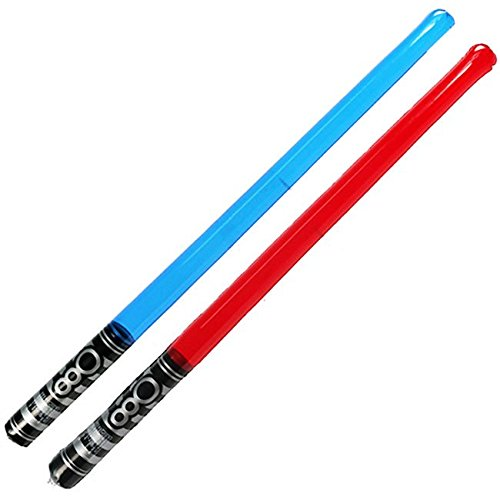 Perpetual Kid® 2PACK Inflatable Light Sabers Pool + Beach Toys Star Wars Summer Battle Floats